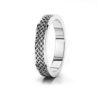 Celtic Knot Wedding Band Polish 4.5mm 00017