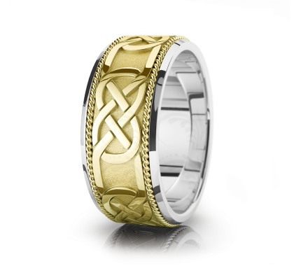 Celtic Wedding Band Polish 10mm 00024