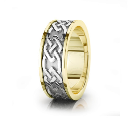 Celtic Chain Wedding Band Polish 8mm 00026