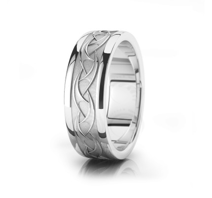 Celtic Wavy Wedding Band Polish 7.5mm 00027
