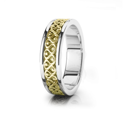 Celtic Knot Wedding Band Polish 6.5mm 00029