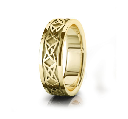 Celtic Star Knot Wedding Band Polish 7mm 00031