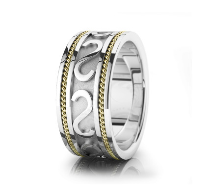 Celtic Braided Wide Wedding Band Polish 10mm 00032