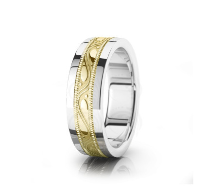 Celtic Beaded Wedding Band Polish 6.5mm 00034