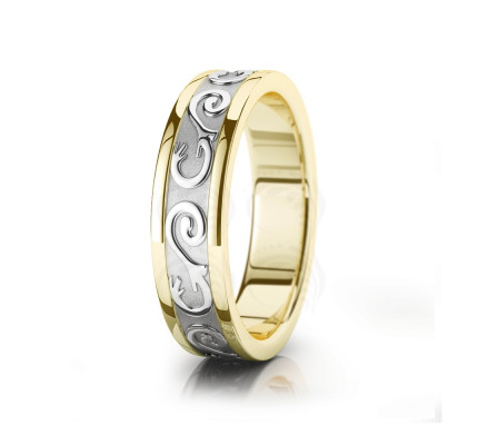Celtic Wavy Wedding Band Polish 6mm 00035