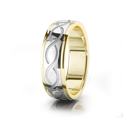 Celtic Double Helix Wedding Band Polish 7mm 00039