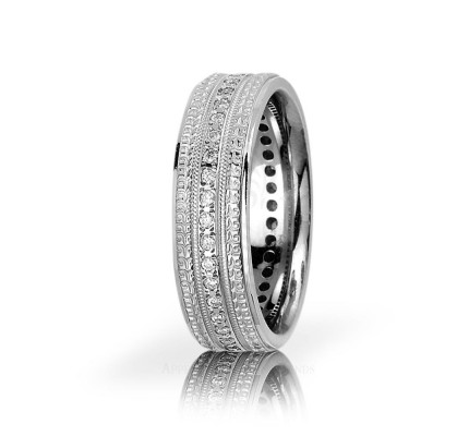 0.36 Ct Round Diamond Ring Wedding 7mm 01150