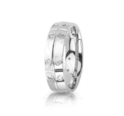 0.4 Ctw Round Diamond Eternity Wedding Ring 7mm 01223