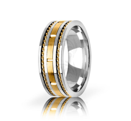 Handwoven Satin Rope Edge Wedding Ring 8mm
