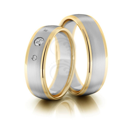 Satin Flat His And Hers Wedding Rings 6mm 02180