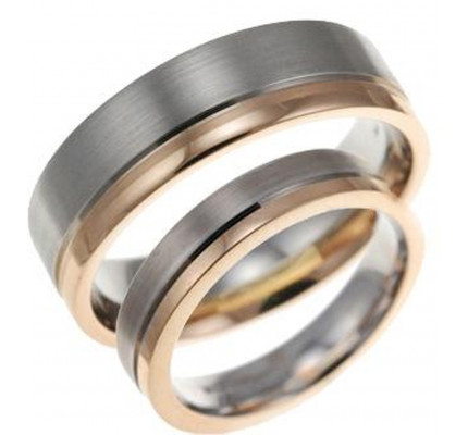 Satin Flat Grooved Matching Wedding Rings 4mm, 6mm 02192