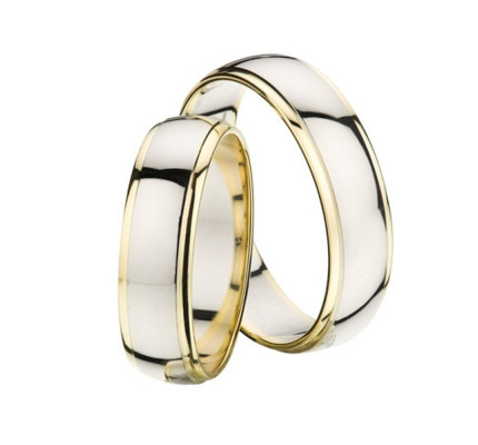 Polish Low Dome His And Hers Wedding Rings 4.5mm, 6mm 02217
