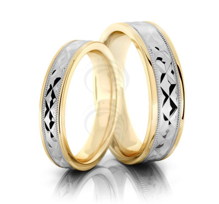 Polish Flat Ladies And Mens Matching Wedding Bands 4mm, 6mm 02289