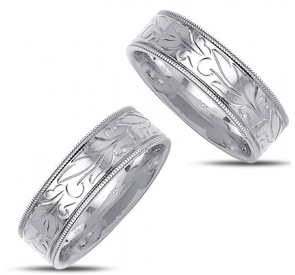 Polish Ladies And Mens Matching Wedding Rings 7mm 02365