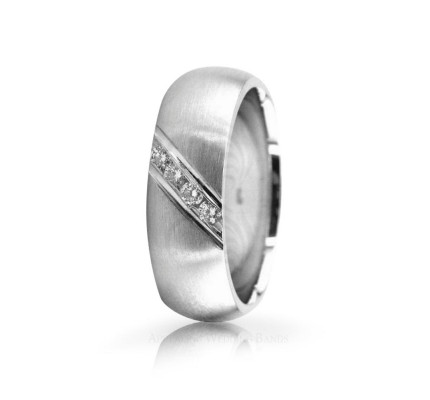 0.12 Ct Round Diamond Band Wedding 6.5mm 02501