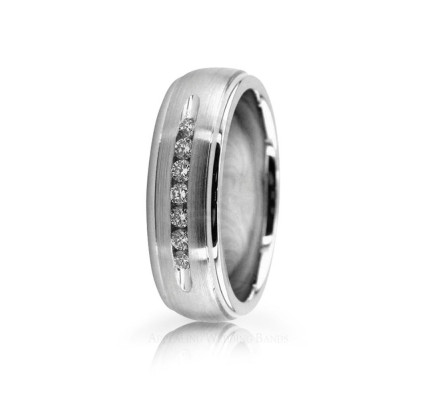 0.18 Ctw Round Diamond Wedding Band 7mm 02510