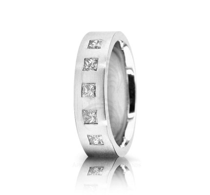 0.5 Ct Princess Diamond Band Wedding 6mm 02518