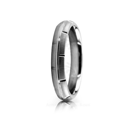 Genuine Satin Stylish Wedding Ring 4mm 02528
