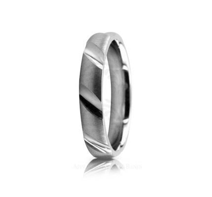 Genuine Satin Designer Wedding Band 4mm 02530