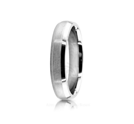 Authentic Satin Designer Wedding Ring 4mm 02532