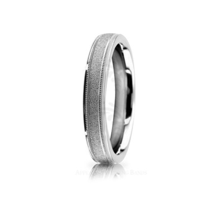 Genuine Polish Sandstone Diamond Cut Wedding Band 4mm 02534