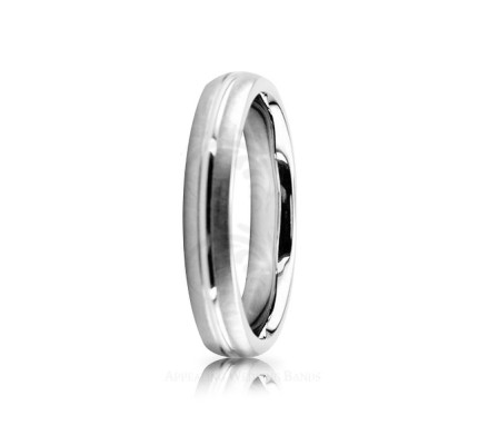 Solid Satin Stylish Wedding Ring 4mm 02536