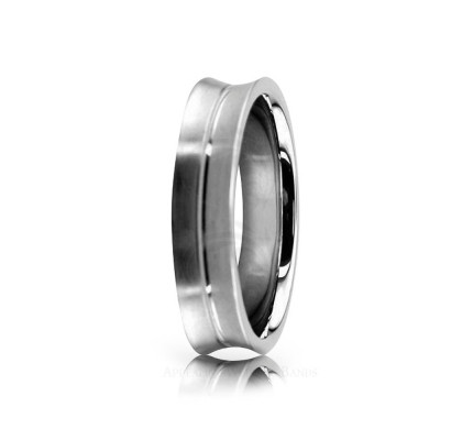 Solid Satin Designer Wedding Ring 4.5mm 02537
