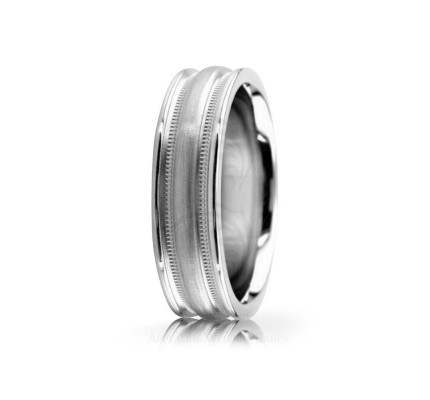 Solid Satin Designer Wedding Ring 5mm 02540