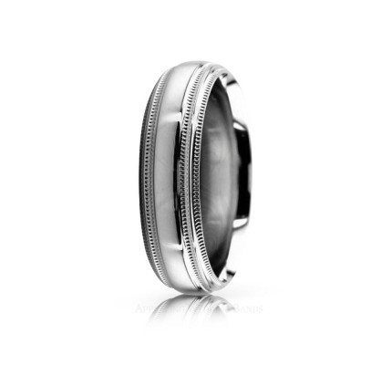 Authentic Polish Stylish Wedding Band 6mm 02541