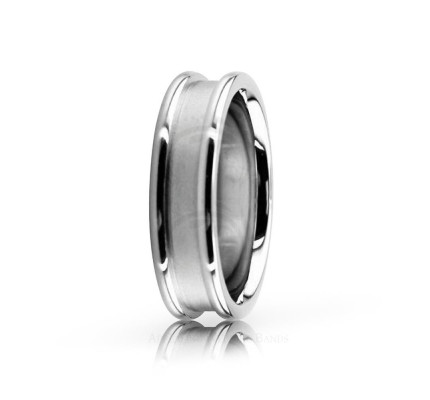 Authentic Satin Designer Wedding Ring 6mm 02542