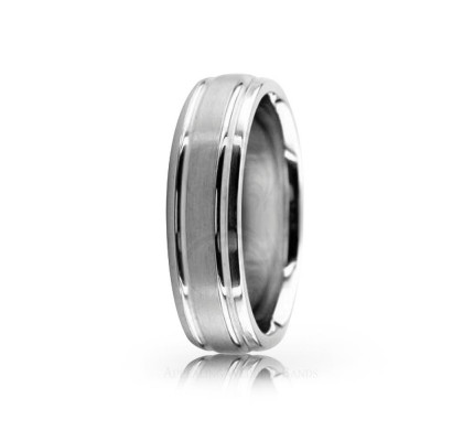 Solid Satin Stylish Wedding Band 6mm 02544