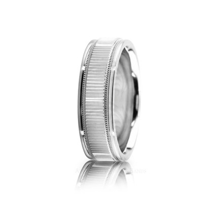 Genuine Polish Stylish Wedding Band 6.5mm 02547