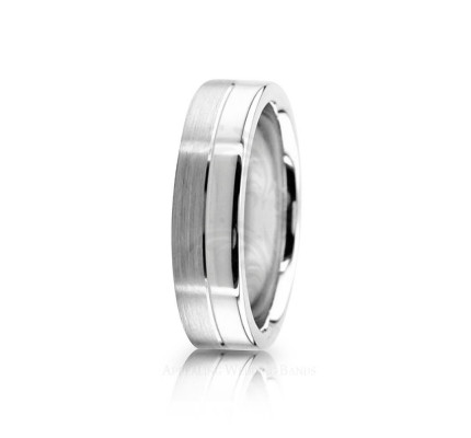 Genuine Satin Diamond Cut Wedding Ring 6mm 02550