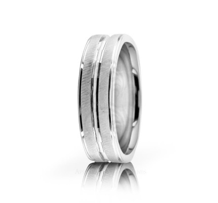 Genuine Satin Stylish Wedding Ring 6mm 02552