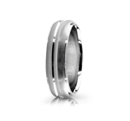 Solid Satin Designer Wedding Band 6mm 02554