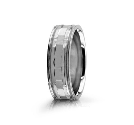 Genuine Polish Diamond Cut Wedding Band 7mm 02556