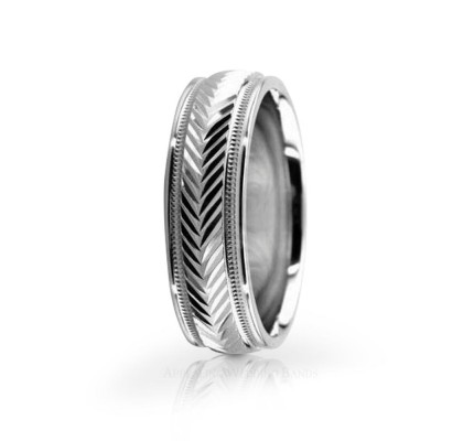 Genuine Polish Stylish Wedding Ring 6mm 02558