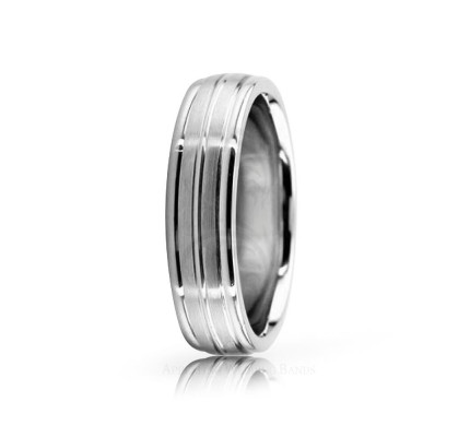Authentic Satin Designer Wedding Band 5.5mm 02563