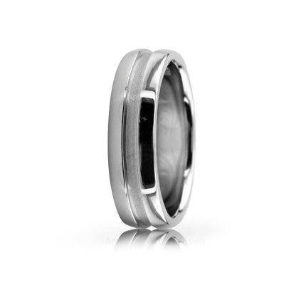 Authentic Satin Designer Wedding Ring 6mm 02564