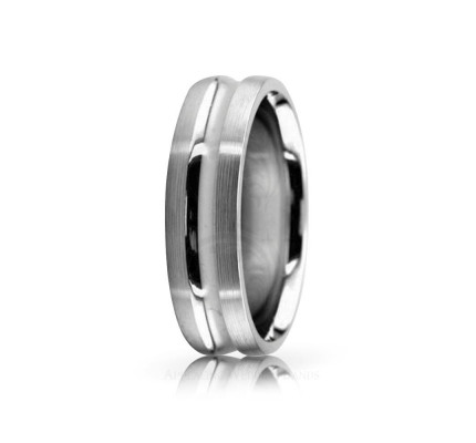 Solid Satin Designer Wedding Band 6mm 02568