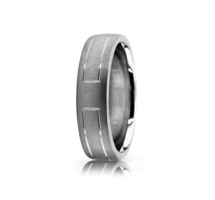 Authentic Satin Stylish Wedding Band 6mm 02577
