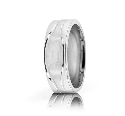 Solid Satin Stylish Wedding Ring 6.5mm 02586