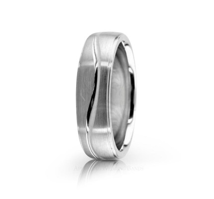 Authentic Satin Stylish Wedding Band 6mm 02590