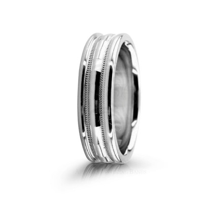 Genuine Polish Designer Wedding Band 6.5mm 02591