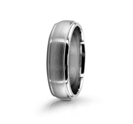Genuine Satin Designer Wedding Ring 6mm 02592