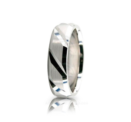Solid Satin Designer Wedding Ring 6mm 02595