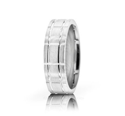 Genuine Brush Designer Wedding Band 6mm 02599