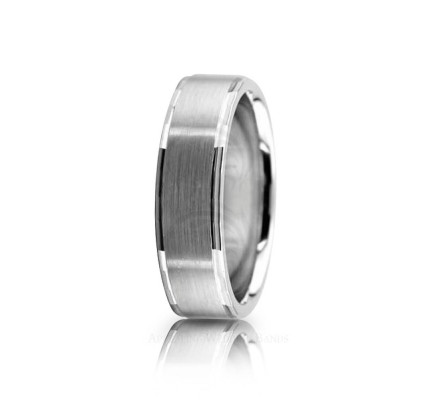 Authentic Satin Designer Wedding Band 6mm 02604