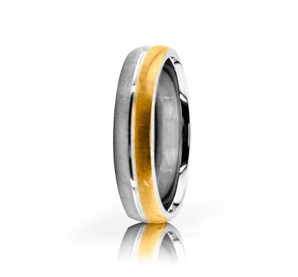 Authentic Polish Brush Designer Wedding Band 5mm 02627