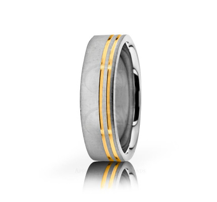 Authentic Satin Stylish Wedding Band 6mm 02631